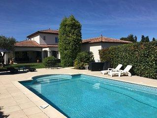Villa au calme et sans vis à vis proche plages et Montpellier