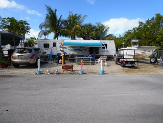 Key Largo Seasonal Rental 40' trailer 2/1 Calusa Campground a gated community
