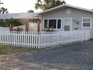 Nice Beachside Home Steps to Beach! Pet Friendly, Private Fenced Yard, Free WiFi