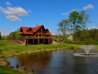 Luxury Log Cabin, 6,000 sq. ft, Mill Spring, NC, 6 bedrooms, Sleeps 11 - 3.5 Ba