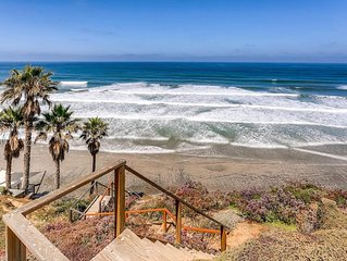 Relaxing Oceanfront Retreat with Private Steps to the Beach and Spa (3 Br, 4 Ba)