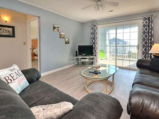 Beautiful 2 Bedroom/2 Bath Condo with Ocean Views-Beach Access Across the Street