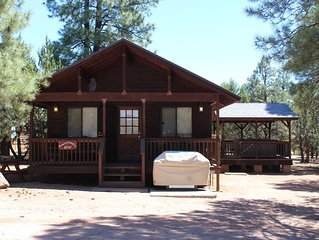 Mogollon Resort Cabins  2 Bed-1 Bath  Private Jacuzzi Full kitchen & Fireplace