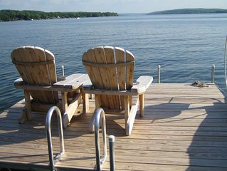 Keuka Lake in the Finger Lakes, Spectacular views, level lakefront, hot tub+