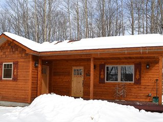 Cozy custom cabin with top-of-the-line amenities in Bellaire, Michigan.