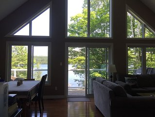 Lake views from everywhere in the cottage.
