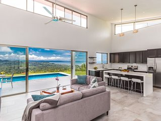 New Modern Home w/ 360 Mountain & Ocean Views in a Gated Community