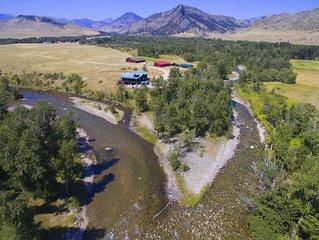 Executive Cabin -1 mile Stillwater River-Caddis Cabin-Montana fly fishing