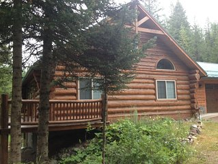 Quiet Cabin nested in the Many Lakes area near Bigfork and Kalispell