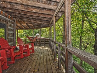 A 2200 sq/ft lodge on a picturesque 16-acre wooded mountain property