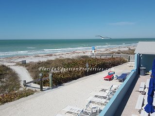 Beachfront Condo in Belleair Beach ! Pool/Gulf view, just steps to the sand