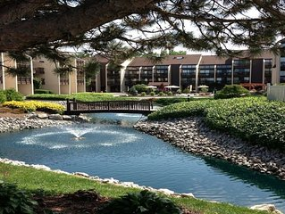 Beautiful Lakefront Condo with Lake Erie View.  Private Beach, Pool, Hot Tub,