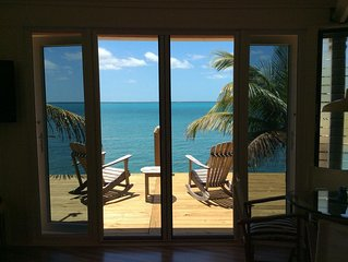 Coco Nut Tree House is nestled in Tropical Foliage on Crystal Clear Sea of Abaco