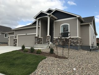 Beautiful new home with mountain views including Pikes Peak