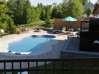 Privacy and greenery just 3 miles from Saratoga Race Track with private pool gym