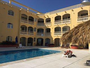Beautiful 2 bedroom 2 bathroom condo with infinite pool on the beach in Zipolite
