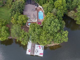 Resort like - Lake home -  huge water view, swimming pool, and xlarge boathouse.