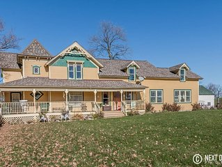 Victorian Farm House surrounded by 195 Acres of Rolling farm & animals