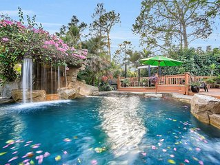 Oasis Resort-resort Spa/pool With Slide, Large Tiki Huts, And Garden Paths. Ahh!