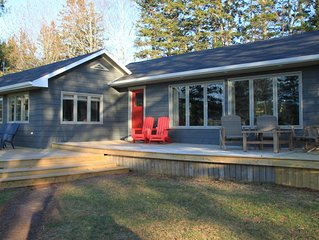 A 1300 Sq foot waterfront cottage newly renovated in 2018.