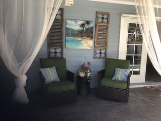 A Treasure Coast beach get-away with it's own entrance. (Pool/fire pit/patio)