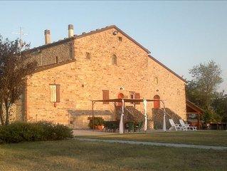 XIII Century Stone House/Villa with Large Pool Near Bologna