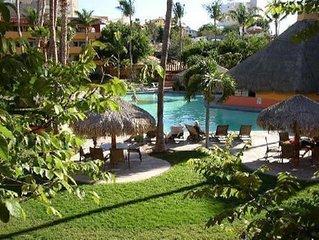 Marina Sol Pool View 2 bedroom Condo 1 Block to Mendano Beach! Walk Everywhere!
