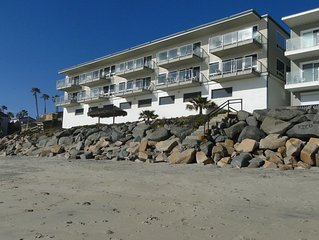 Ocean Front Condo with Private Upper Beach & Just Steps to the Water
