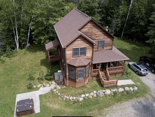 Secluded Lodge on 27 Acres with Hot Tub, Whiteface Views Near Wildlife Refuge