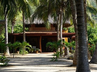 Tropical, oceanfront, Troncones Beach Casa, perfect for a vacation in Paradise!