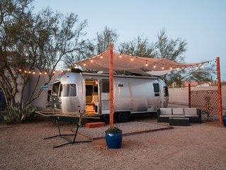 Airstream Tiny Living on Small Farm in the Desert