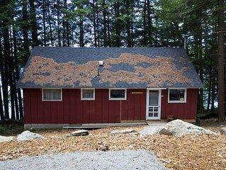 Rustic Pennesseewassee Summer Cabin, Waterfront, Sleeps 10