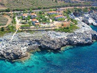 Traumhafte Lage, idyllisch, direkt am Meer: Ferienwohnung mit Wifi in Messenien,