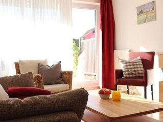 Haus Oasis Wohnung 10, Terasse, Strandkorb am Strand (saisonbedingt), Nichtrauch