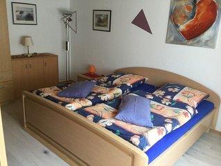 Ferienwohnung mit 70qm, 2 Schlafzimmern, 1 Wohn-/Essraum für max. 4 Personen