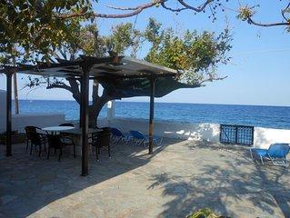 Landlich ruhig und direkt am Meer: Ferienhaus mit Wifi in Arkadien, Peloponnes