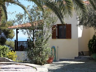 Freistehendes Ferienhaus mit einmaligem Meerblick, Wifi | Aghios Nikolaos, Chalk