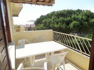 Vue mer, 2 balcons, 80 m², 2 chambres, 150 m de la plage