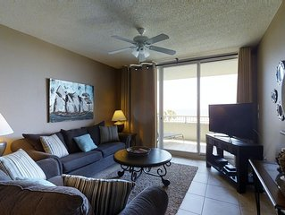 Dive into beautiful beach views with this condo on the sand! Summer Bookings Ava