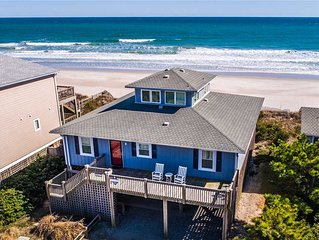 All About The View: 4 Br / 2 Ba Oceanfront In Topsail Beach, Sleeps 8