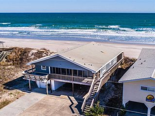 Blue Shamu: 4 Br / 2 Ba Oceanfront In Topsail Beach, Sleeps 8