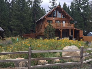 True Log Cabin - The Happy Place - Almost Heaven! CLOSE TO SKIING AND LAKE!!