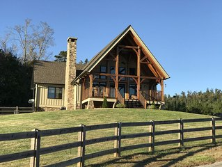 Farm Stay in beautiful Timber Frame House in the Foothills of W. North Carolina