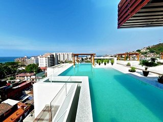Luxury and modern V399 PH w/2 bedrooms In The Romantic Zone near beach