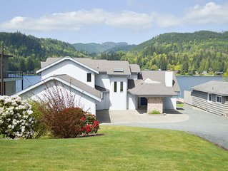 Lake house on Samish.  Private launch, massive dock, sun deck and more!!