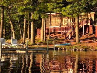 SEBAGO LAKE SHOREFRONT.  220 ft. ON SHORE, DOCK - SLEEPS 8.