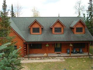 Beautiful Lakefront Log Home