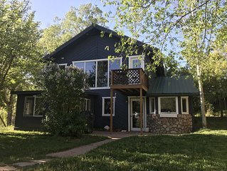 Crystal River Chalet on 2 acres with over 500ft of river frontage.