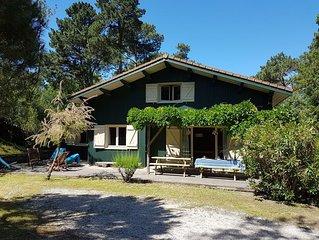 50m du Bassin, Cap Ferret, Charmante villa avec terrasse et grand jardin privés