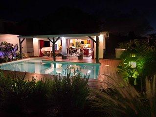 Kaz Dous. Villa neuve de standing avec piscine, ambiance zen-moderne